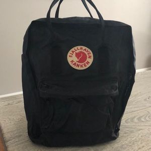 Fjallraven Black Backpack